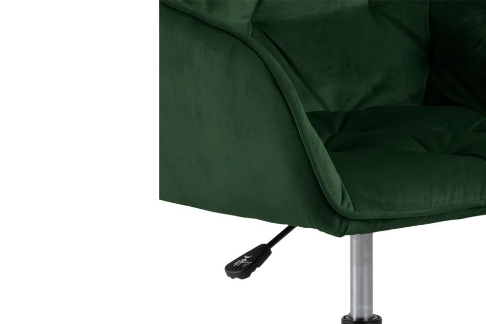 VERTIO Krzesło kubełkowe obrotowe welurowe butelkowa zieleń ciemny zielony - zdjęcie 6