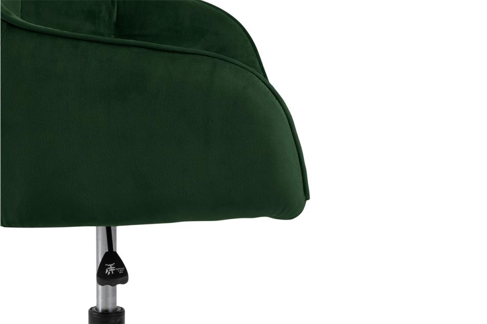 VERTIO Krzesło kubełkowe obrotowe welurowe butelkowa zieleń ciemny zielony - zdjęcie 7