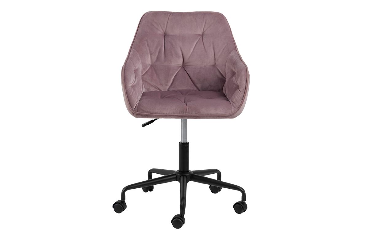 Krzesło kubełkowe obrotowe welurowe ciemno pudrowy róż