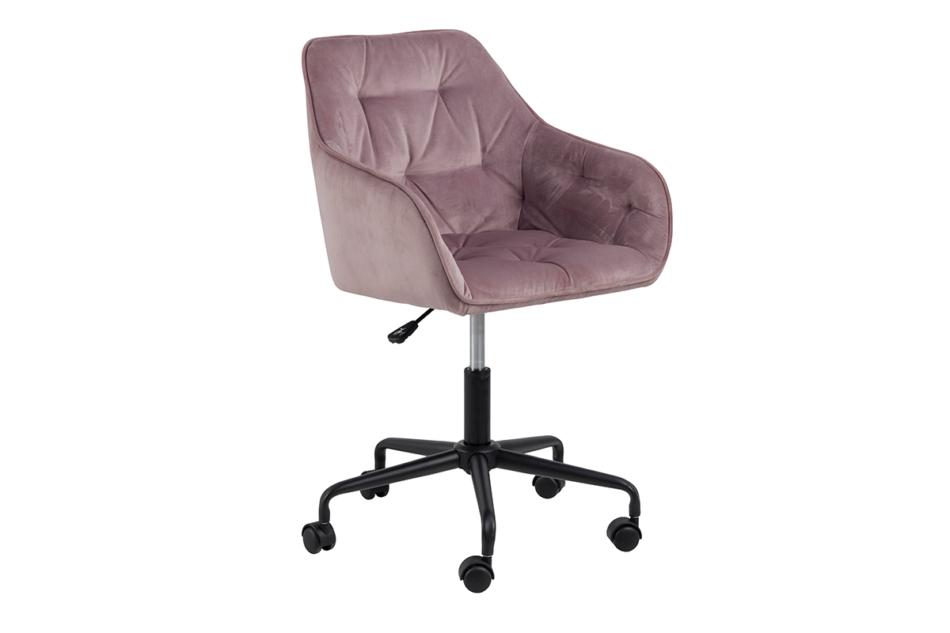 VERTIO Krzesło kubełkowe obrotowe welurowe ciemno pudrowy róż różowy - zdjęcie 2