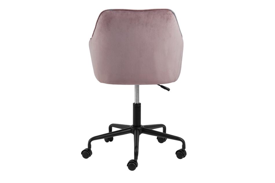 VERTIO Krzesło kubełkowe obrotowe welurowe ciemno pudrowy róż różowy - zdjęcie 3