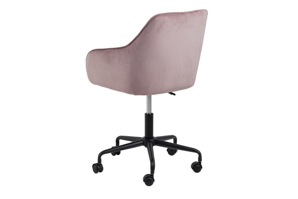 VERTIO Krzesło kubełkowe obrotowe welurowe ciemno pudrowy róż różowy - zdjęcie 4