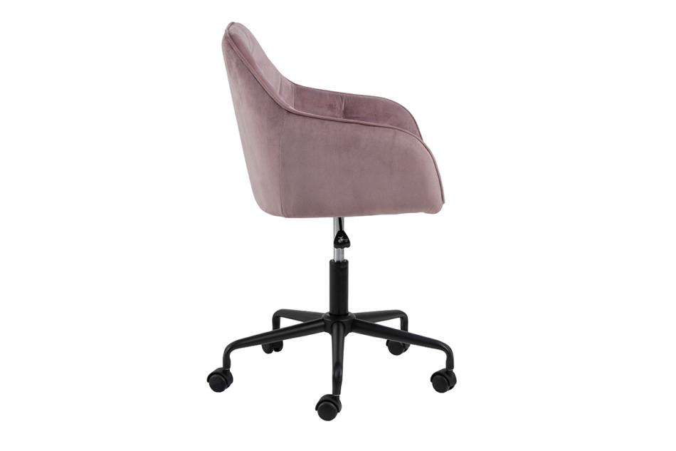 VERTIO Krzesło kubełkowe obrotowe welurowe ciemno pudrowy róż różowy - zdjęcie 5