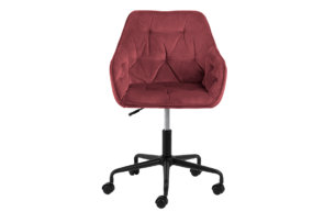 VERTIO, https://konsimo.pl/kolekcja/vertio/ Krzesło kubełkowe obrotowe welurowe ciemno różowe koralowy - zdjęcie