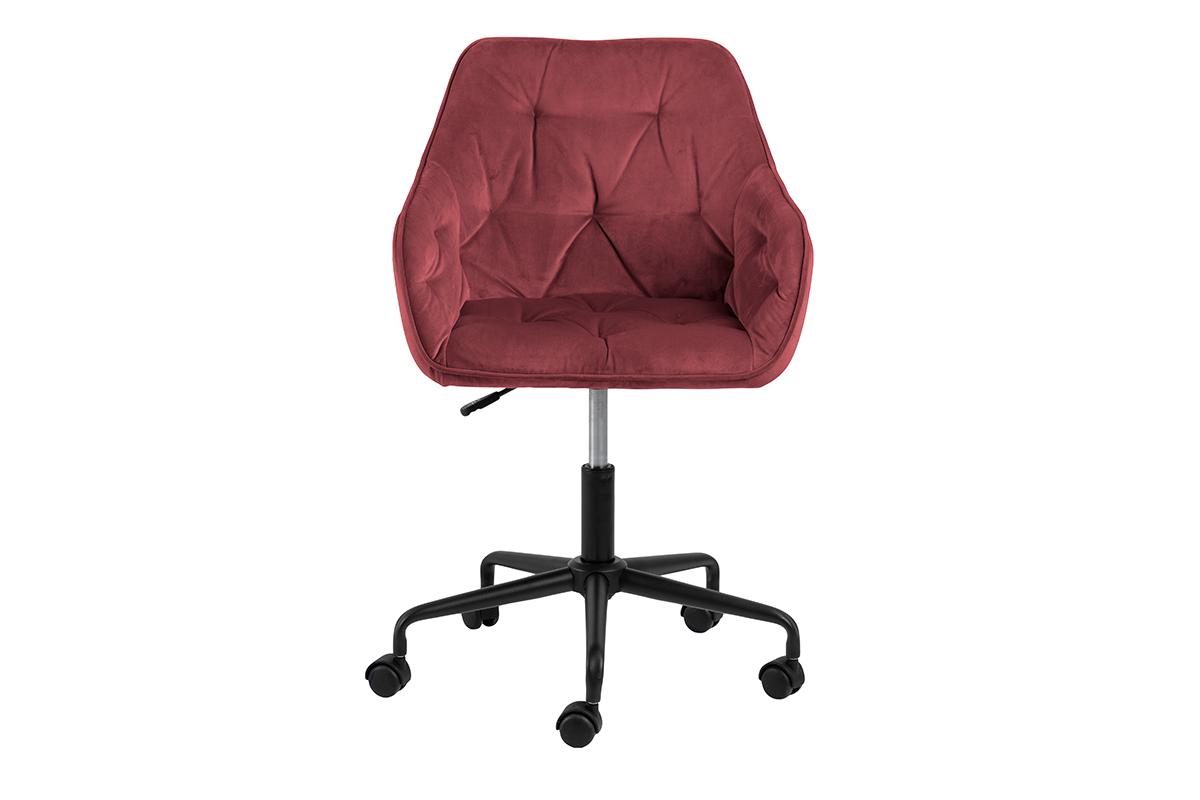 Krzesło kubełkowe obrotowe welurowe ciemno różowe