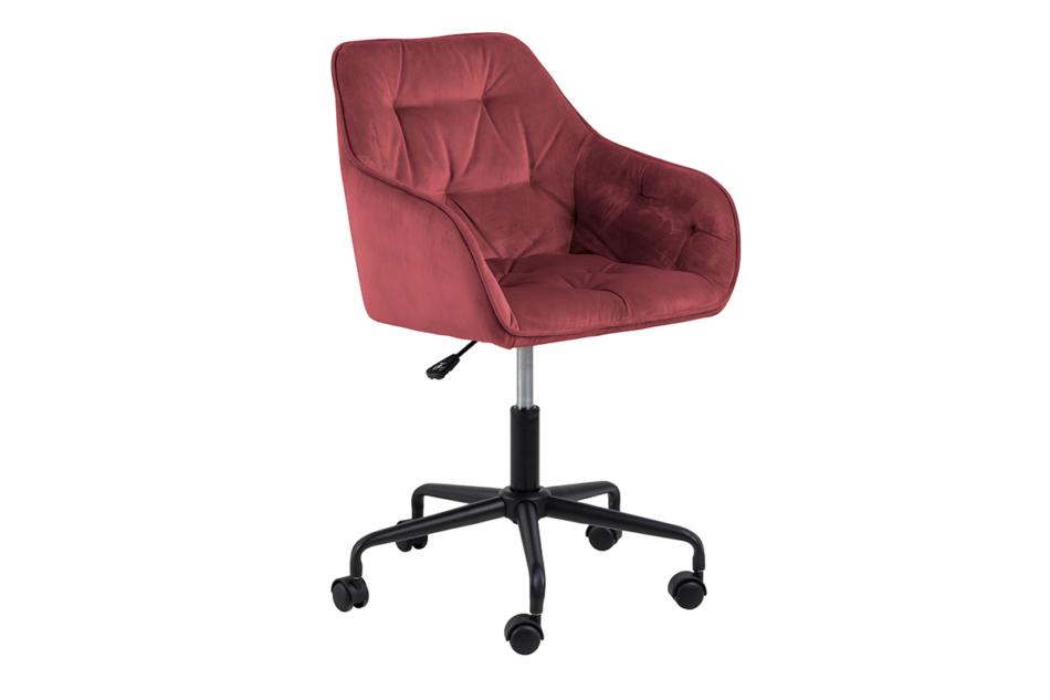 VERTIO Krzesło kubełkowe obrotowe welurowe ciemno różowe koralowy - zdjęcie 1