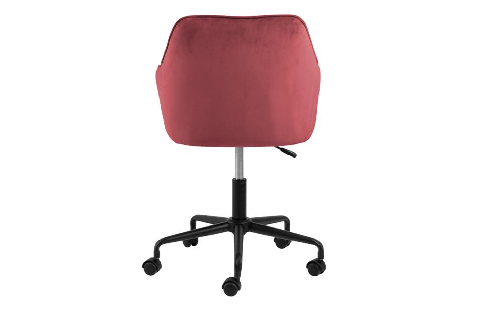 VERTIO Krzesło kubełkowe obrotowe welurowe ciemno różowe koralowy - zdjęcie 2