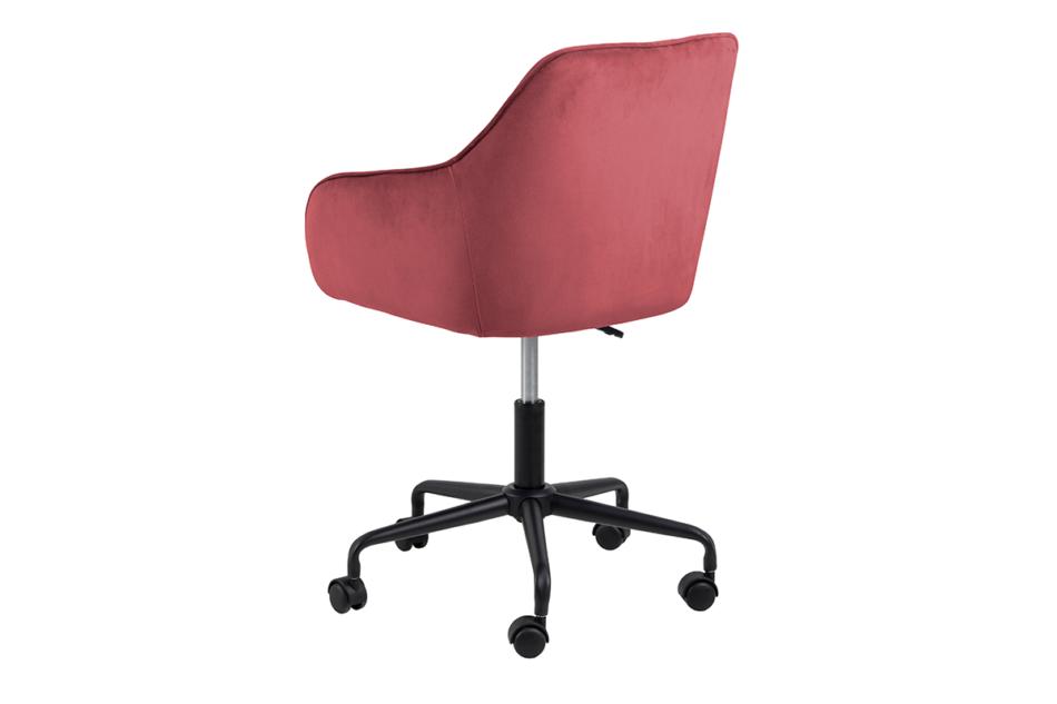 VERTIO Krzesło kubełkowe obrotowe welurowe ciemno różowe koralowy - zdjęcie 3