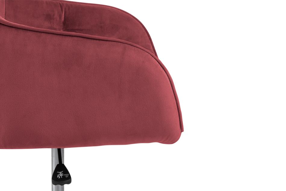 VERTIO Krzesło kubełkowe obrotowe welurowe ciemno różowe koralowy - zdjęcie 5