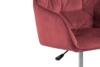 VERTIO Krzesło kubełkowe obrotowe welurowe ciemno różowe koralowy - zdjęcie 7
