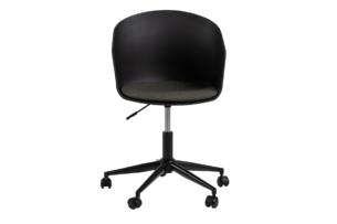 TROVIO, https://konsimo.pl/kolekcja/trovio/ Krzesło obrotowe do biurka czarne czarny/szary - zdjęcie