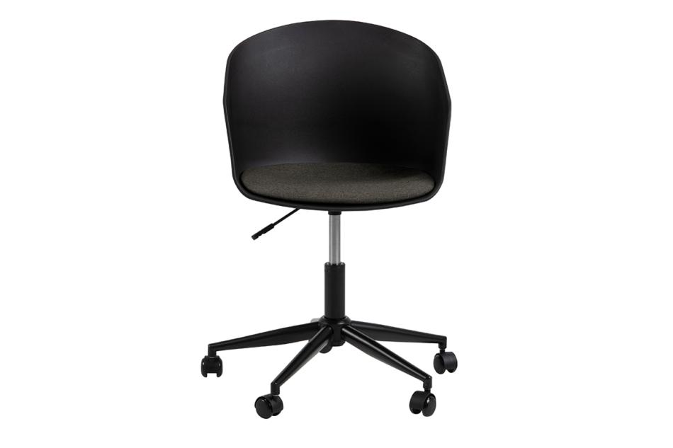 TROVIO Krzesło obrotowe do biurka czarne czarny/szary - zdjęcie 0