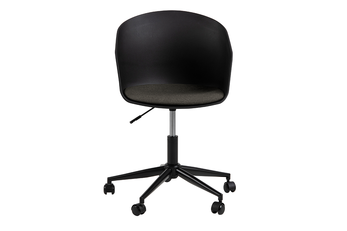 Krzesło obrotowe do biurka czarne