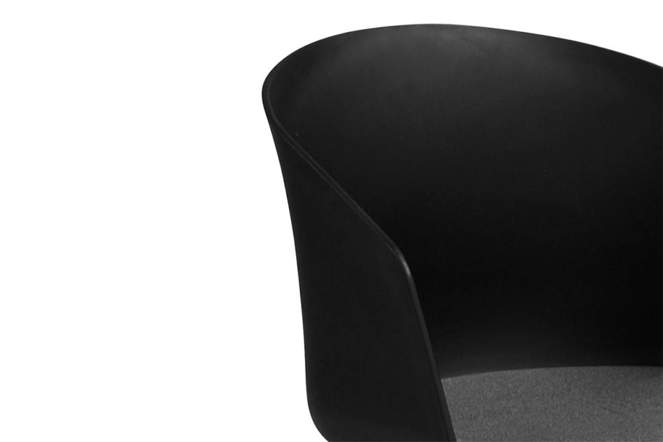 TROVIO Krzesło obrotowe do biurka czarne czarny/szary - zdjęcie 9