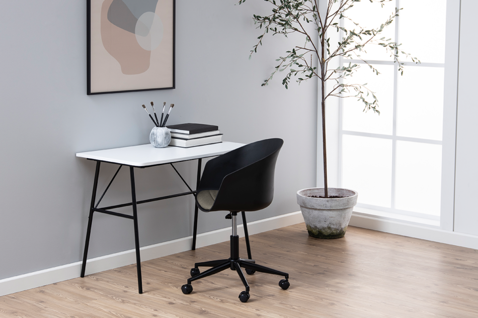 TROVIO Krzesło obrotowe do biurka czarne czarny/szary - zdjęcie 1