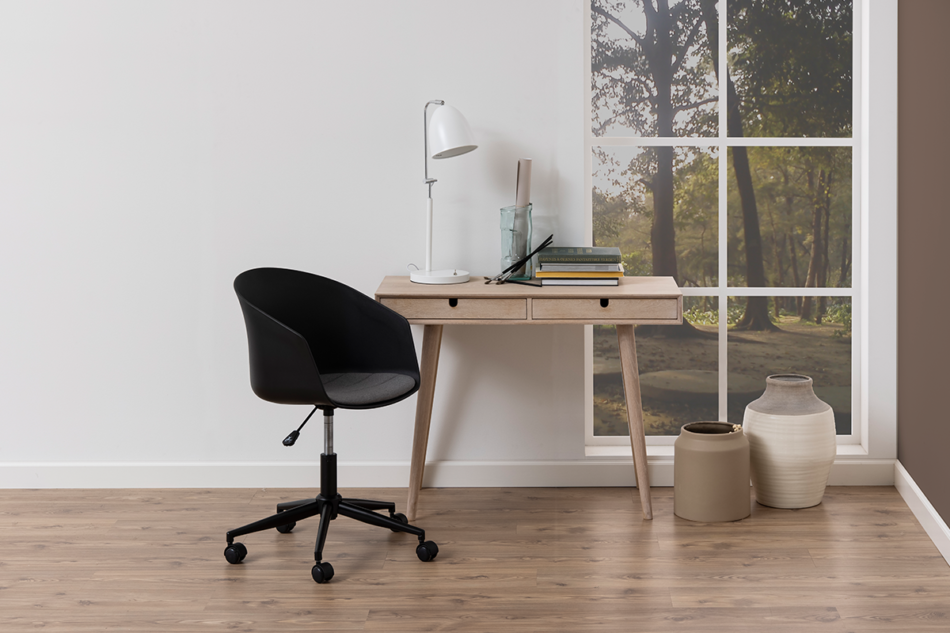 TROVIO Krzesło obrotowe do biurka czarne czarny/szary - zdjęcie 2