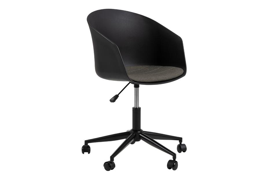 TROVIO Krzesło obrotowe do biurka czarne czarny/szary - zdjęcie 4