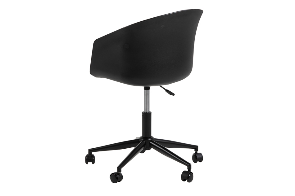 TROVIO Krzesło obrotowe do biurka czarne czarny/szary - zdjęcie 5