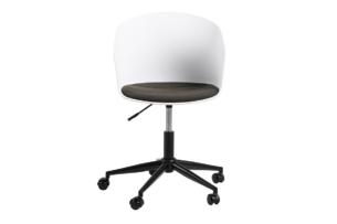 TROVIO, https://konsimo.pl/kolekcja/trovio/ Krzesło obrotowe do biurka białe biały/szary - zdjęcie