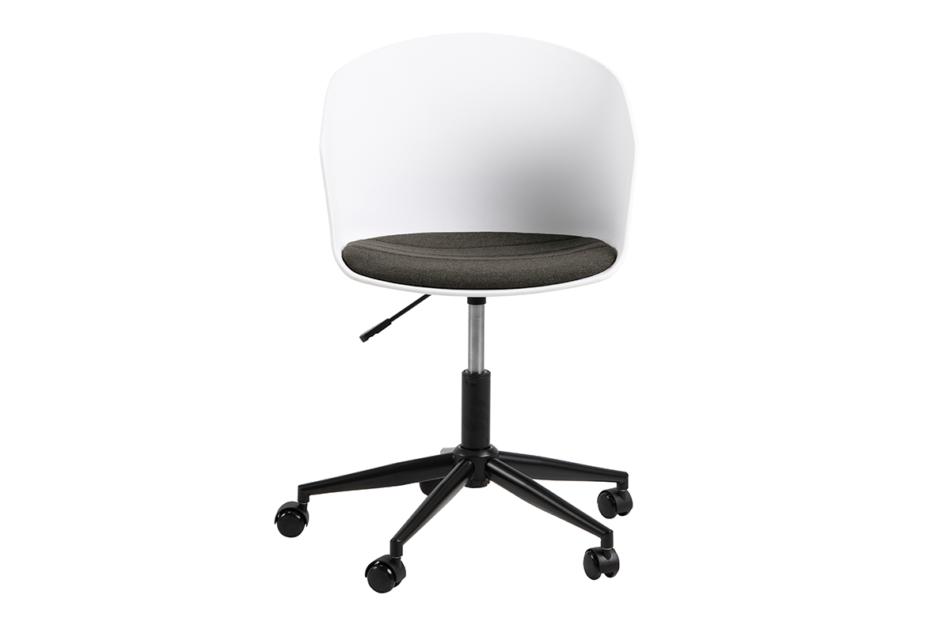 TROVIO Krzesło obrotowe do biurka białe biały/szary - zdjęcie 0