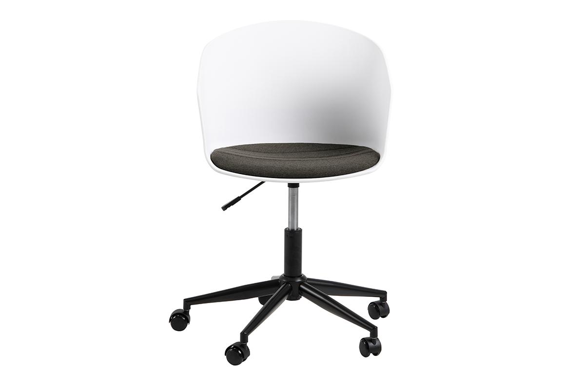 Krzesło obrotowe do biurka białe