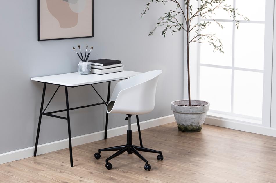 TROVIO Krzesło obrotowe do biurka białe biały/szary - zdjęcie 1