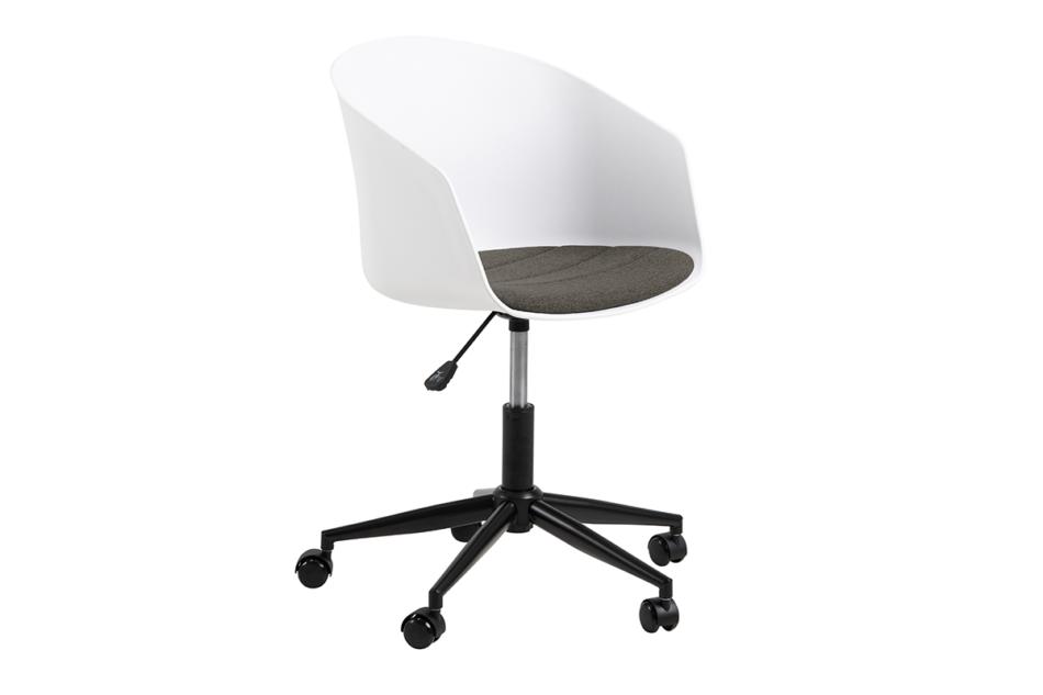 TROVIO Krzesło obrotowe do biurka białe biały/szary - zdjęcie 2