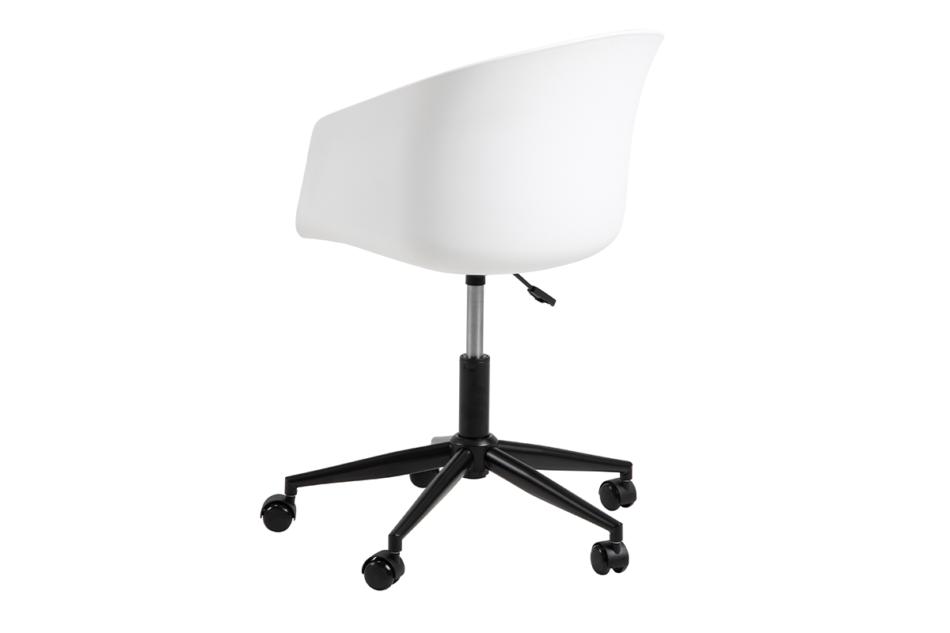 TROVIO Krzesło obrotowe do biurka białe biały/szary - zdjęcie 4