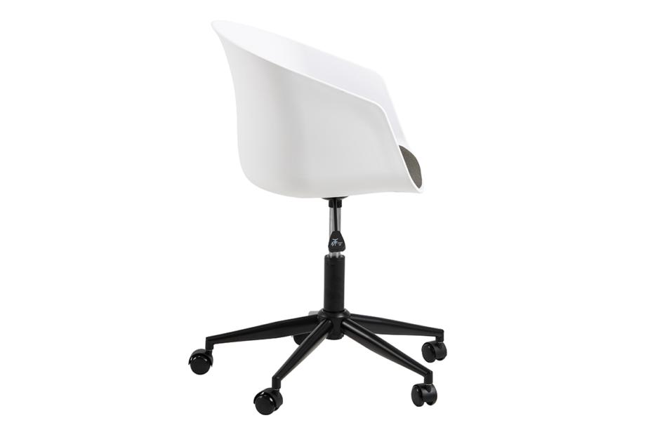 TROVIO Krzesło obrotowe do biurka białe biały/szary - zdjęcie 5