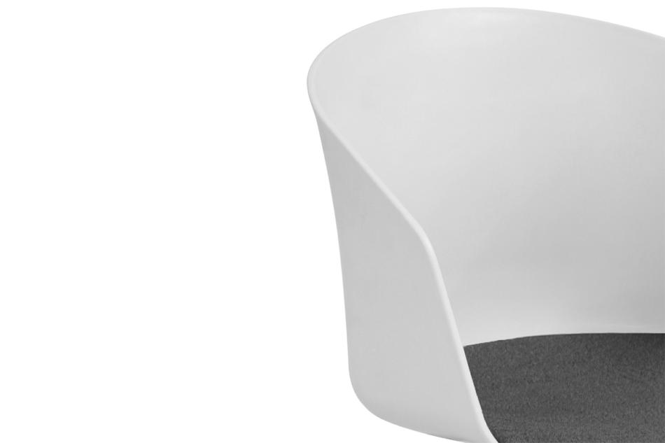 TROVIO Krzesło obrotowe do biurka białe biały/szary - zdjęcie 6