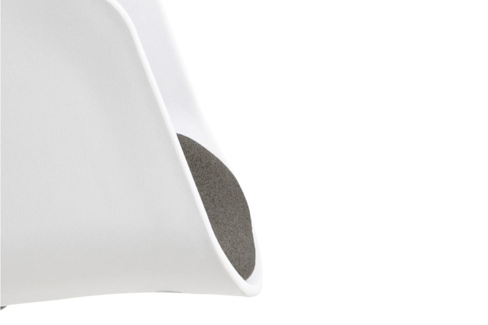 TROVIO Krzesło obrotowe do biurka białe biały/szary - zdjęcie 7