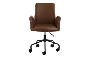 RAIMO, https://konsimo.pl/kolekcja/raimo/ Fotel obrotowy do biurka brązowy brązowy - zdjęcie
