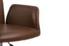 RAIMO Fotel obrotowy do biurka brązowy brązowy - zdjęcie 10