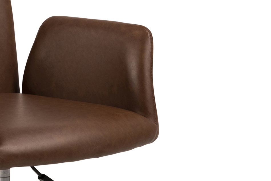 RAIMO Fotel obrotowy do biurka brązowy brązowy - zdjęcie 9