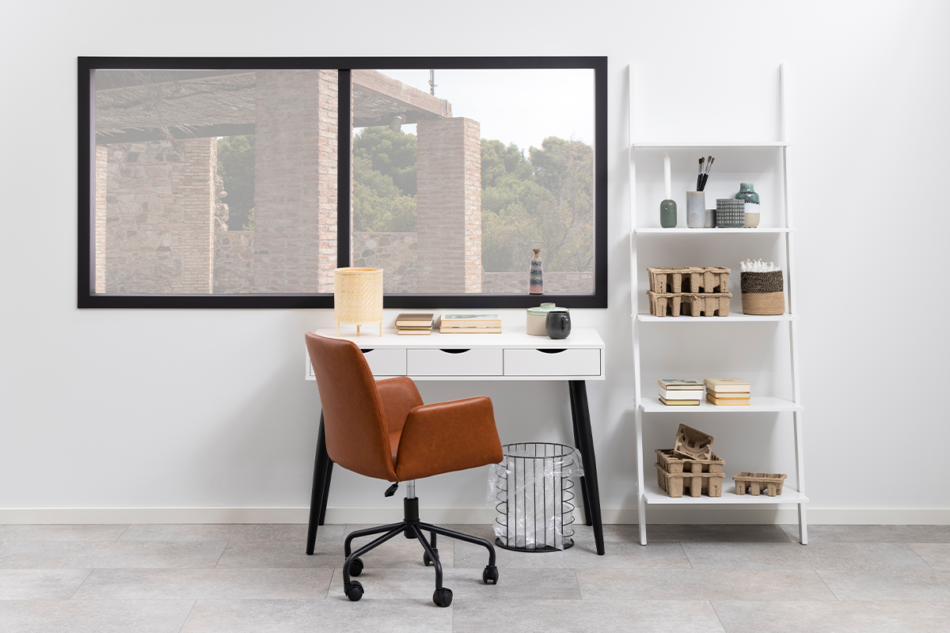 RAIMO Fotel obrotowy do biurka brązowy brązowy - zdjęcie 1
