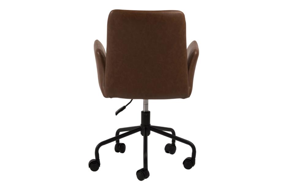 RAIMO Fotel obrotowy do biurka brązowy brązowy - zdjęcie 3