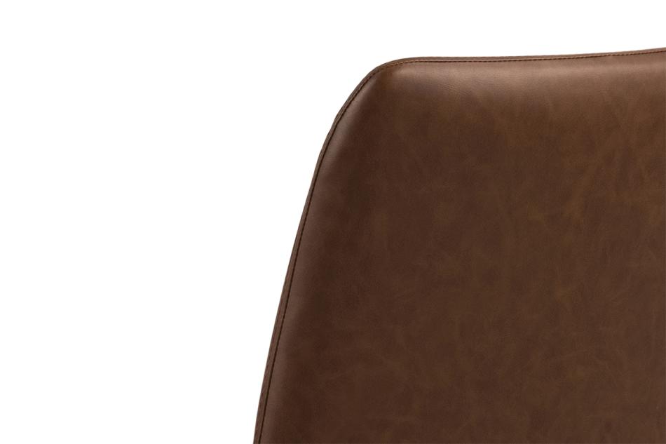 RAIMO Fotel obrotowy do biurka brązowy brązowy - zdjęcie 5