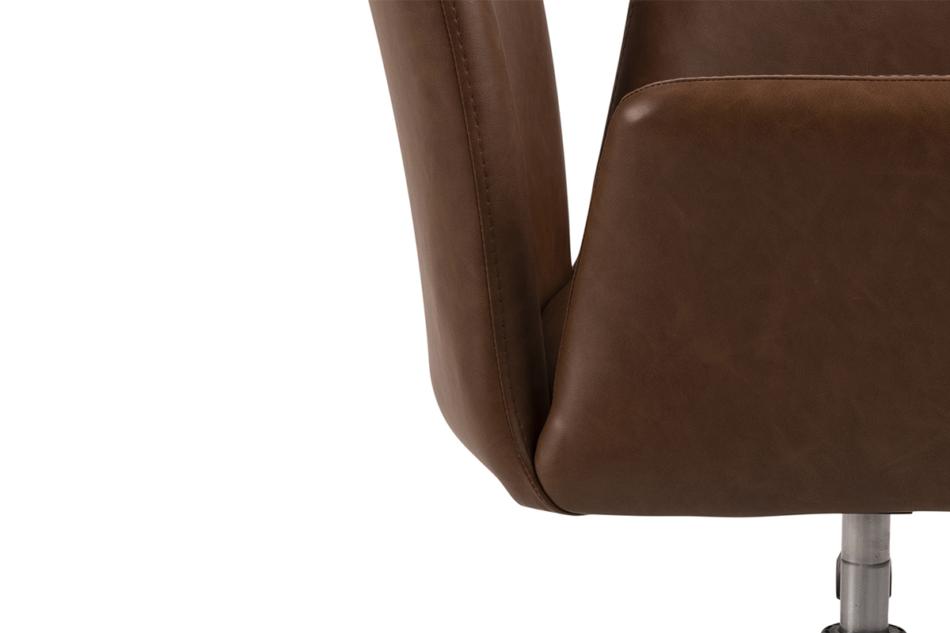 RAIMO Fotel obrotowy do biurka brązowy brązowy - zdjęcie 7
