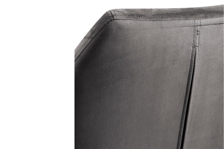 NOLO Fotel obrotowy welurowy szary szary - zdjęcie 5