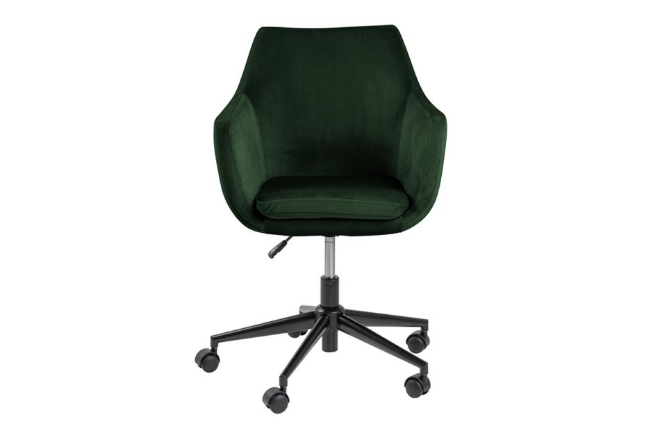 NOLO Fotel obrotowy welurowy butelkowa zieleń ciemny zielony - zdjęcie 0