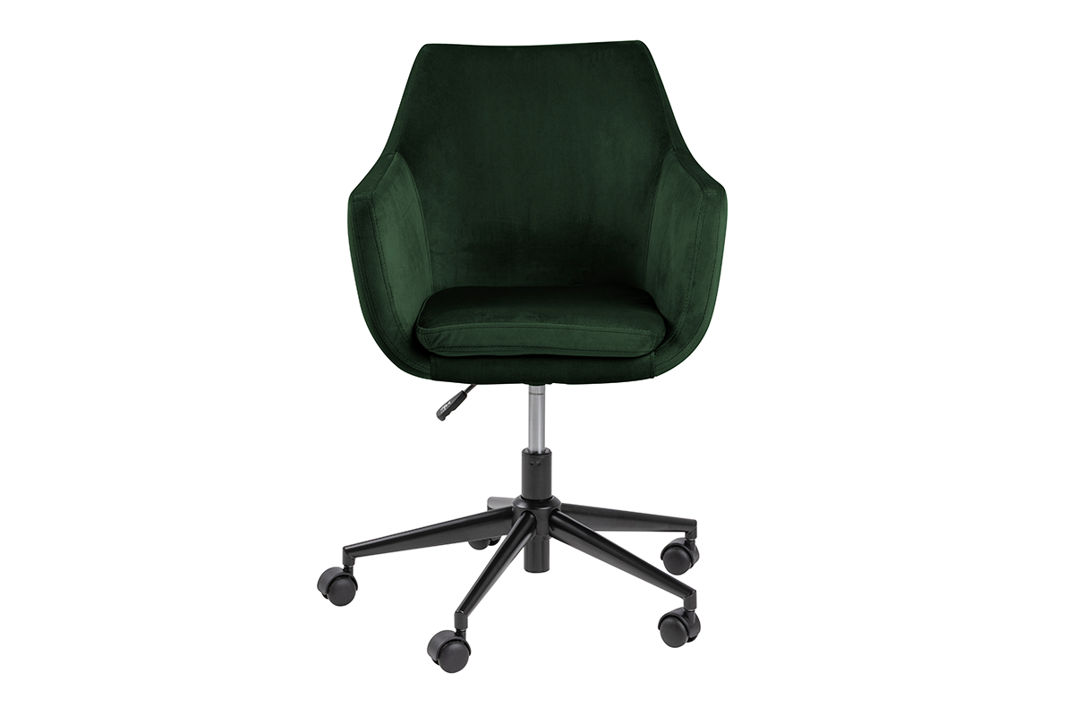 Fotel obrotowy welurowy butelkowa zieleń