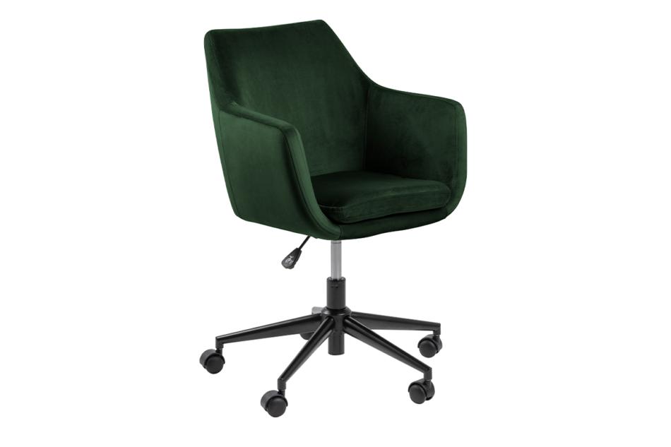 NOLO Fotel obrotowy welurowy butelkowa zieleń ciemny zielony - zdjęcie 2