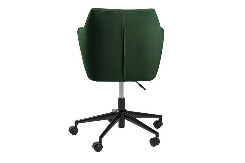 NOLO Fotel obrotowy welurowy butelkowa zieleń ciemny zielony - zdjęcie 3