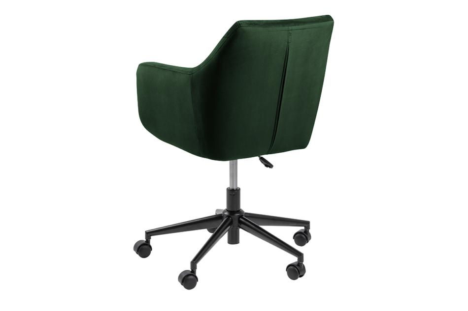 NOLO Fotel obrotowy welurowy butelkowa zieleń ciemny zielony - zdjęcie 4