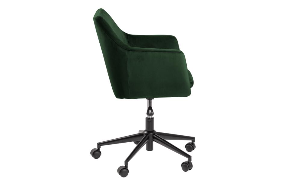 NOLO Fotel obrotowy welurowy butelkowa zieleń ciemny zielony - zdjęcie 5