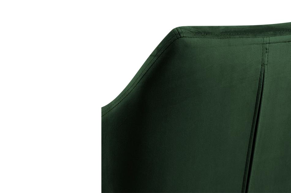 NOLO Fotel obrotowy welurowy butelkowa zieleń ciemny zielony - zdjęcie 6