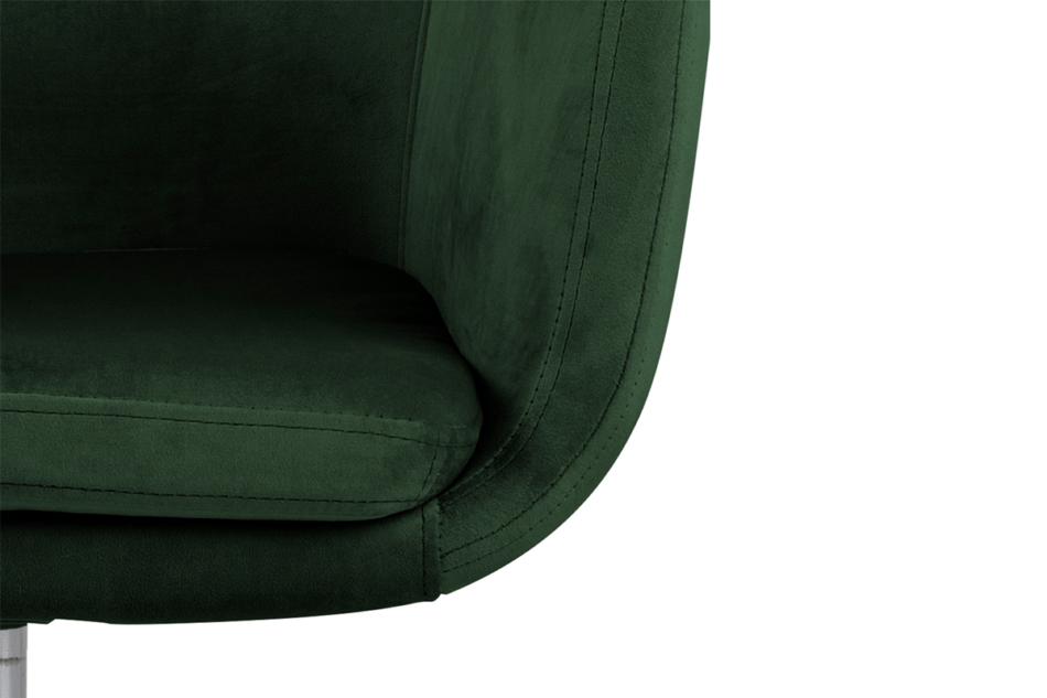 NOLO Fotel obrotowy welurowy butelkowa zieleń ciemny zielony - zdjęcie 8