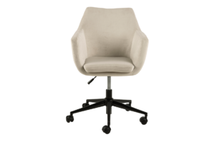 NOLO, https://konsimo.pl/kolekcja/nolo/ Fotel obrotowy welurowy biały kremowy - zdjęcie