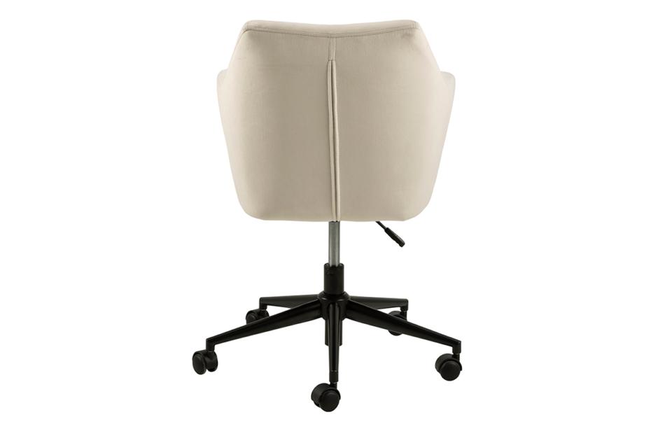 NOLO Fotel obrotowy welurowy biały kremowy - zdjęcie 3