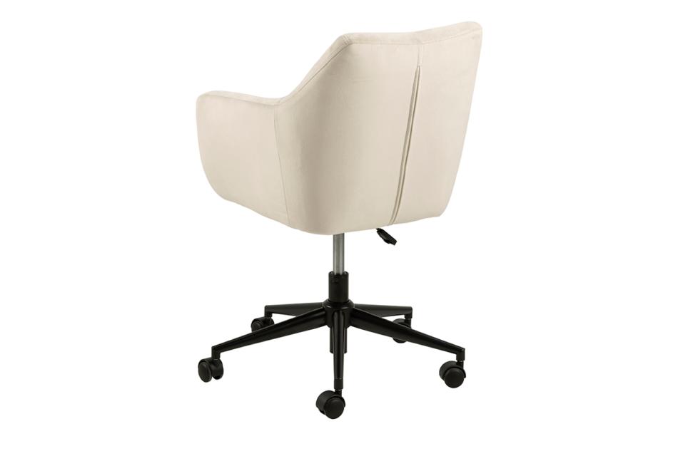 NOLO Fotel obrotowy welurowy biały kremowy - zdjęcie 4